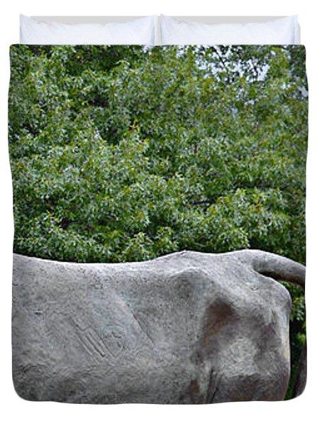 Bull Market Quadriptych 4 of 4 Duvet Cover by Christine Till