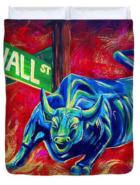 Bull Market Duvet Cover by Teshia Art