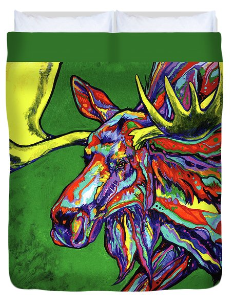 Bull Moose Duvet Cover by Derrick Higgins