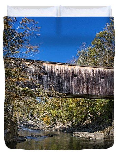 Bulls Bridge Duvet Cover by John Greim