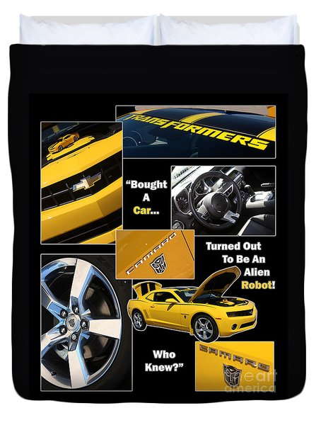 Bumble Bee-robot - Poster Duvet Cover by Gary Gingrich Galleries