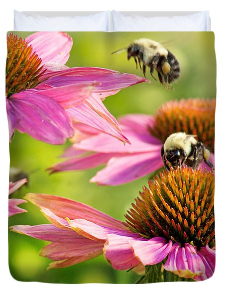 Bumbling Bees Duvet Cover by Bill Pevlor