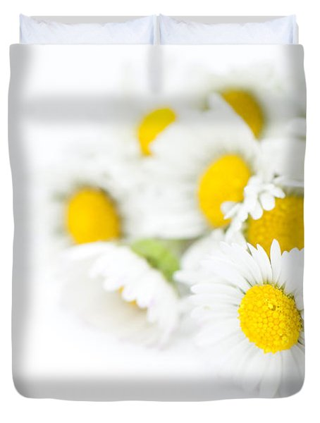 Bunch Of Daisies Duvet Cover by Anne Gilbert