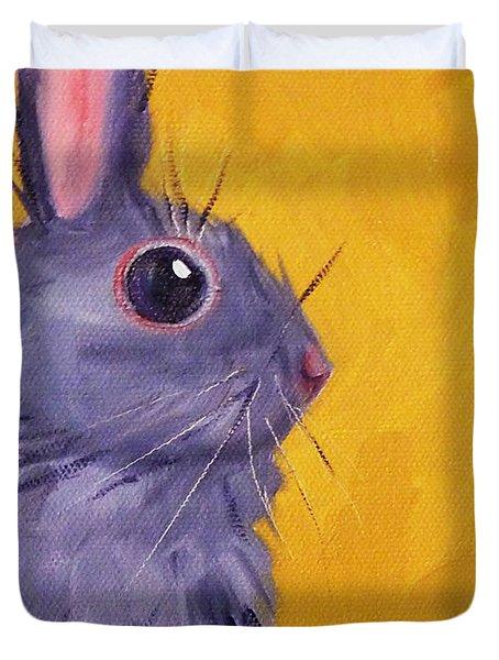 Bunny Duvet Cover by Nancy Merkle
