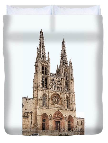 Burgos Cathedral Spain Duvet Cover by Rudi Prott
