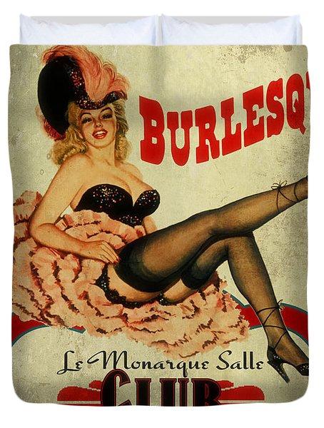 Burlesque Club Duvet Cover by Cinema Photography
