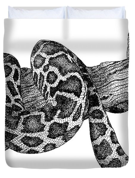 Burmese Python Duvet Cover by Roger Hall