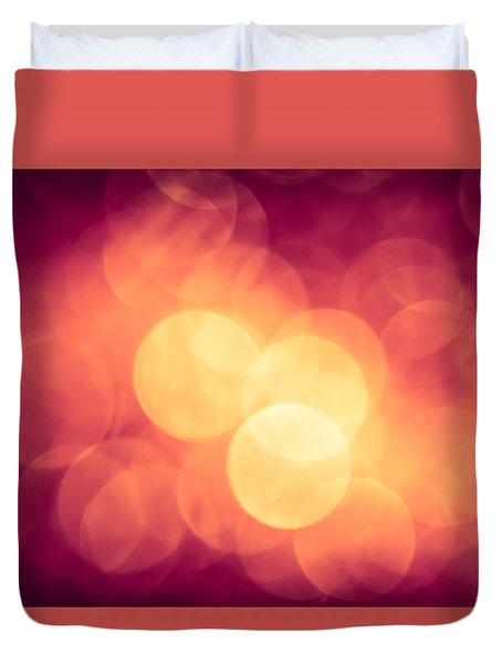 Burning Bokeh Duvet Cover by Jan Bickerton