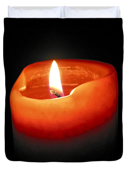 Burning candle Duvet Cover by Elena Elisseeva