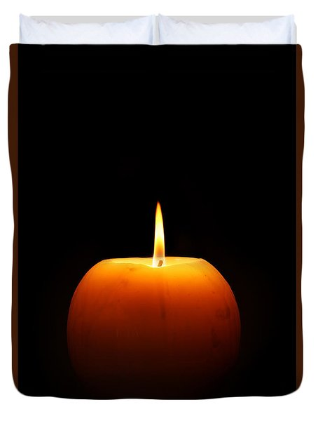 Burning Candle Duvet Cover by Johan Swanepoel