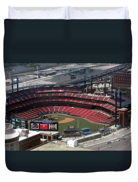 Busch Memorial Stadium Duvet Cover by Thomas Woolworth