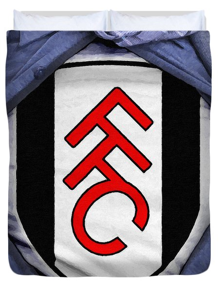 Businessman Fulham Fan Duvet Cover by Antony McAulay