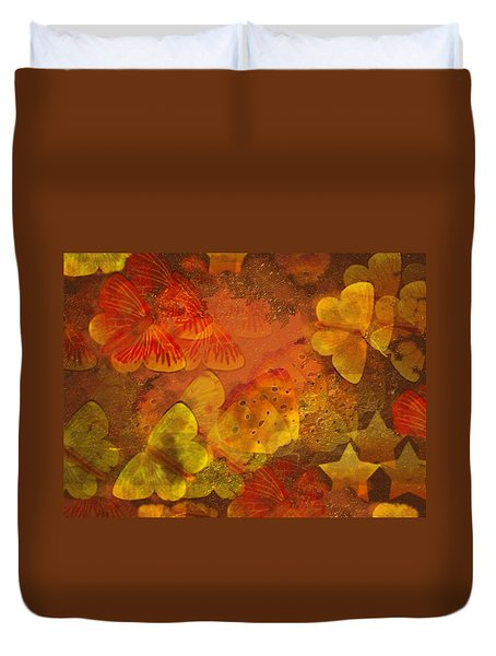 Butterfly Abstract 2 Duvet Cover by David Dehner
