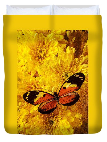 Butterfly Abstract Duvet Cover by Garry Gay