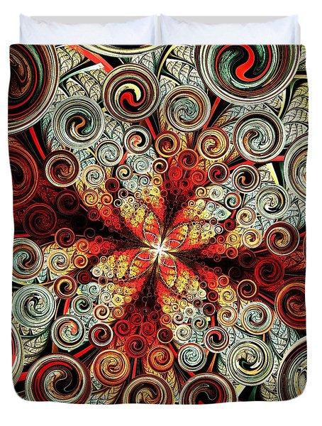 Butterfly And Bubbles Duvet Cover by Anastasiya Malakhova
