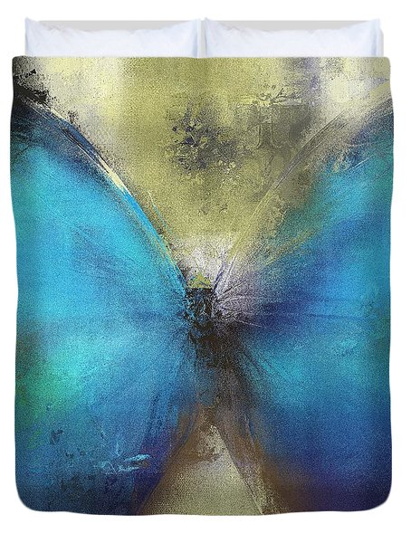Butterfly Art - ab0101a Duvet Cover by Variance Collections