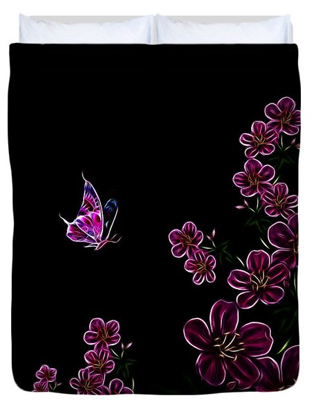 Butterfly Dancer 1 Duvet Cover by Cheryl Young