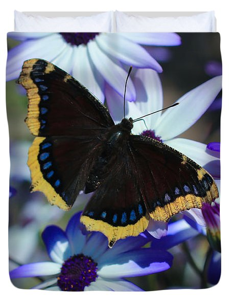 Butterfly In Blue Duvet Cover by Heidi Smith