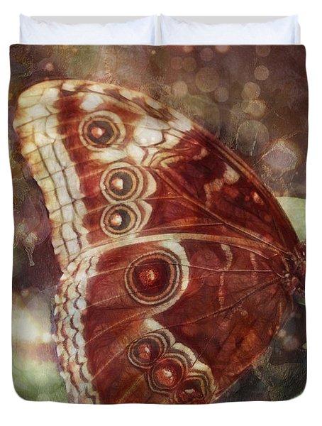 Butterfly In My Garden Duvet Cover by Barbara Orenya