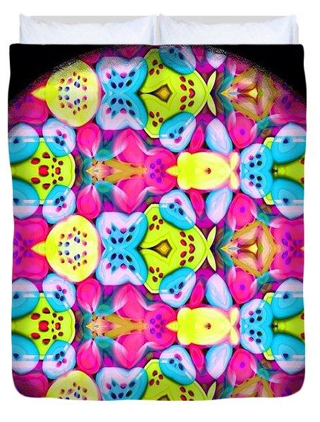 Butterfly Mandala Duvet Cover by Karen Buford