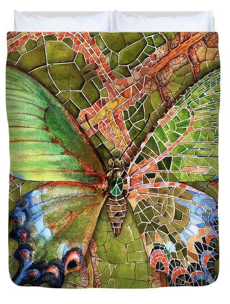 Butterfly Mosaic 03 Elena Yakubovich Duvet Cover by Elena Yakubovich