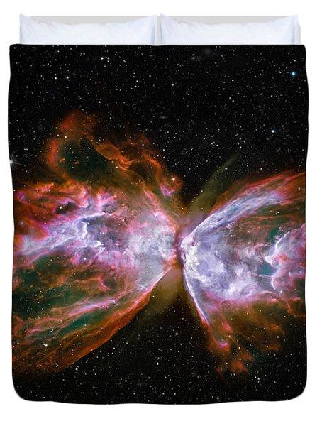 Butterfly Nebula Ngc6302 Duvet Cover by Adam Romanowicz