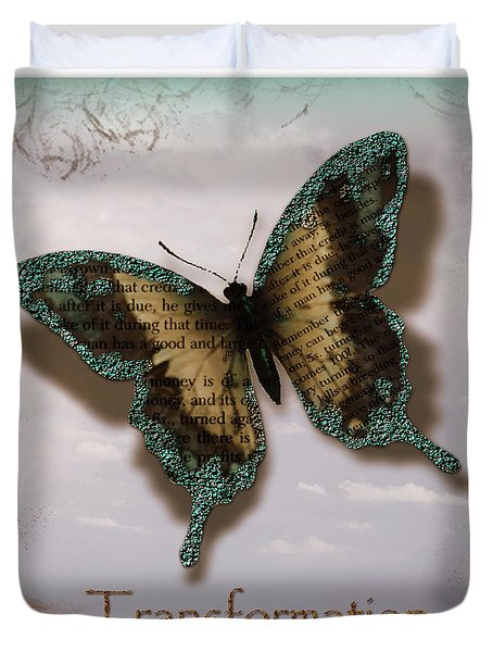 Butterfly of Transformation Duvet Cover by Bobbee Rickard