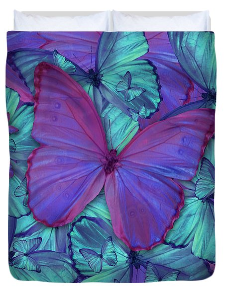 Butterfly Radial Violetmorpheus Duvet Cover by Alixandra Mullins