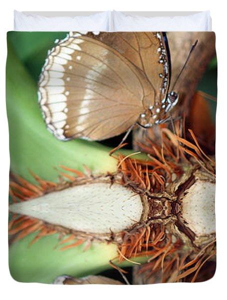 Butterfly Reflection Duvet Cover by Karen Adams