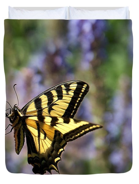 Butterfly Thoughts Duvet Cover by Lisa Knechtel