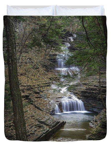 Buttermilk Falls In Autumn IIi Duvet Cover by Michele Steffey