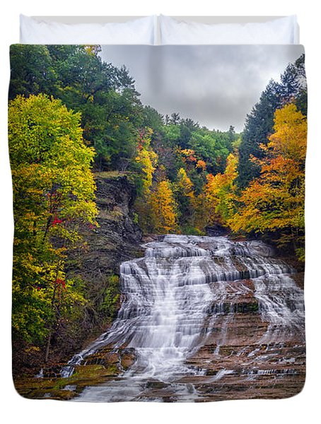 Buttermilk Falls Duvet Cover by Mark Papke