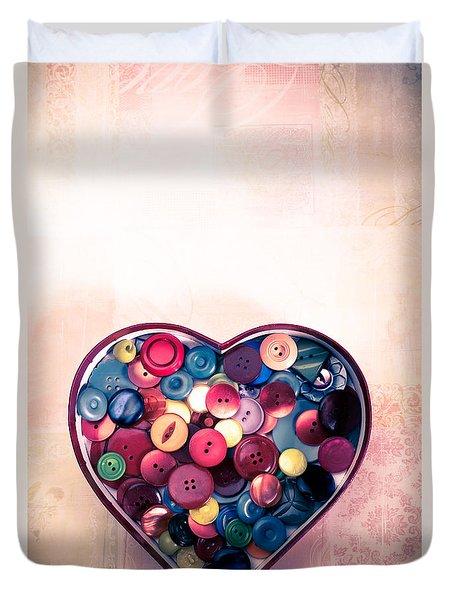 Button Love Duvet Cover by Jan Bickerton