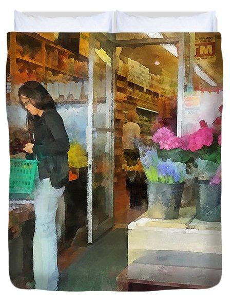 Buying Fresh Fruit Duvet Cover by Susan Savad