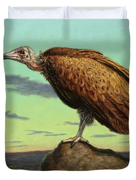 Buzzard Rock Duvet Cover by James W Johnson