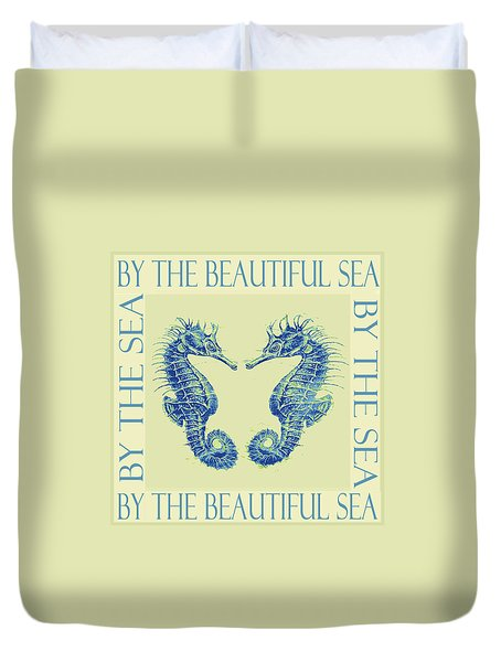 by the beautiful sea II Duvet Cover by Jane Schnetlage