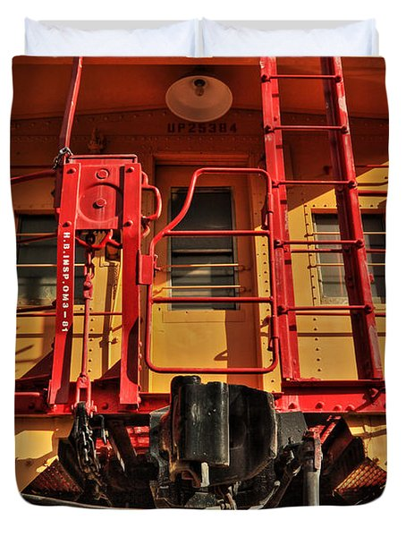 Caboose Duvet Cover by James Eddy