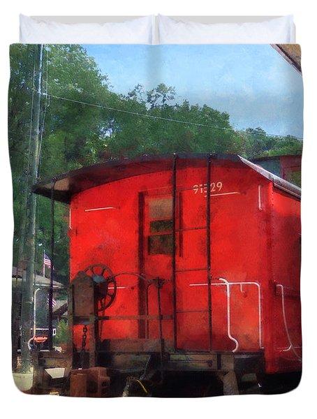 Caboose Duvet Cover by Susan Savad
