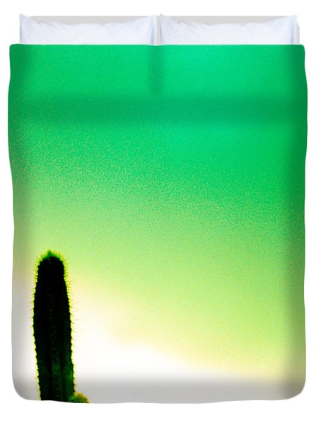 Cactus In The Morning Duvet Cover by Yo Pedro