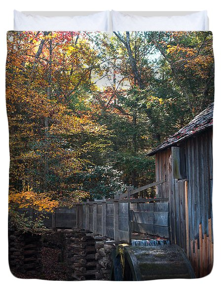 Cades Cove Mill Duvet Cover by Steve Gadomski