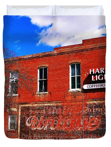 Cafe Duvet Cover by Chris Berry