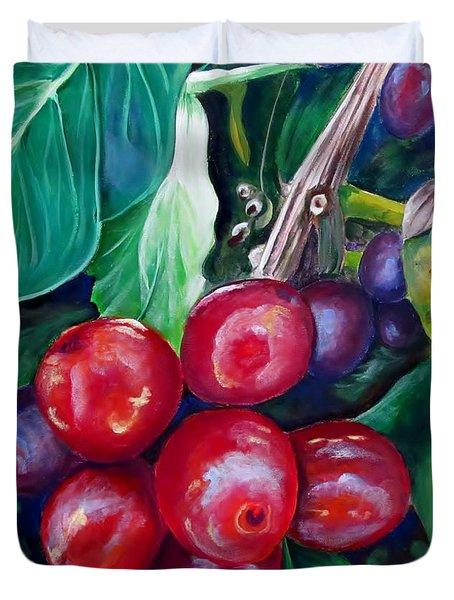Cafe Costa Rica Duvet Cover by Carol Allen Anfinsen