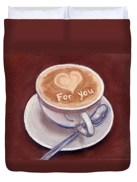 Caffe Latte Duvet Cover by Anastasiya Malakhova