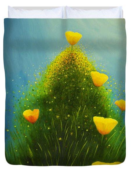 California Poppies Duvet Cover by Veikko Suikkanen