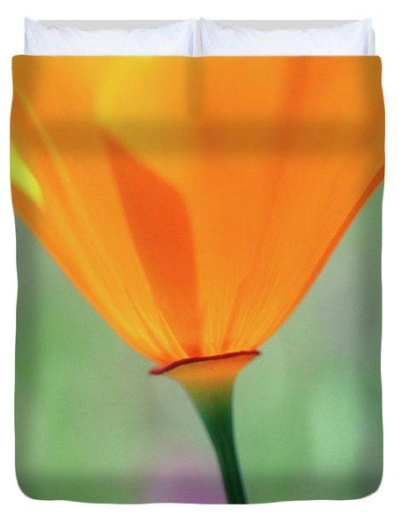California Poppy Duvet Cover by Kathy Yates