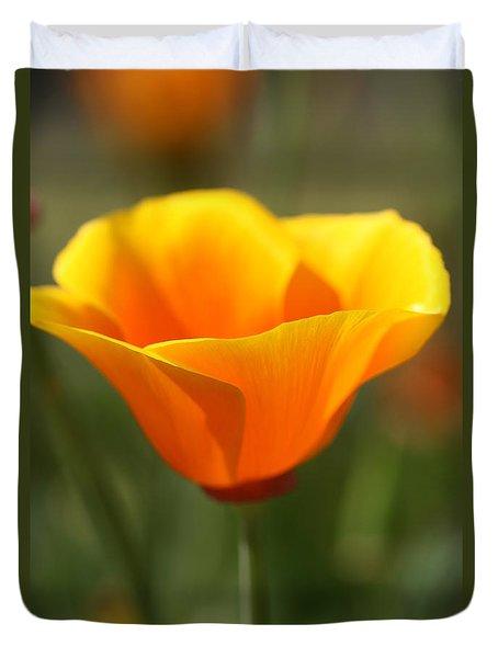 Californian Poppy Duvet Cover by Joy Watson