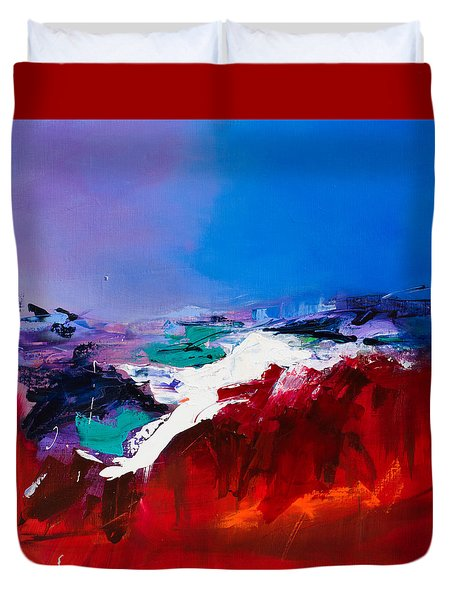 Call Of The Canyon Duvet Cover by Elise Palmigiani