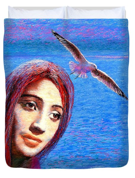 Call of the Deep Duvet Cover by Jane Small