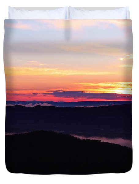 Call Of The Mountains Duvet Cover by Rachel Cohen