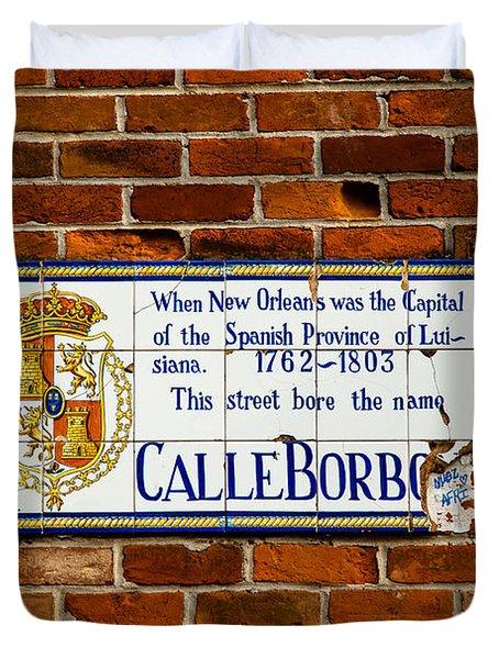 Calle Borbo Duvet Cover by Susie Hoffpauir